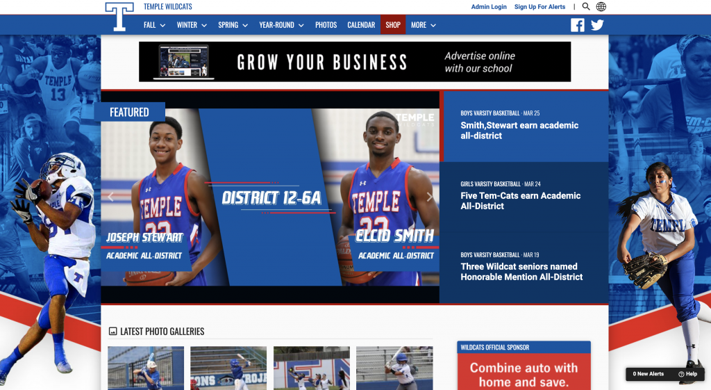 BoxOut Sports and VNN Integration - Home Page Graphics Features