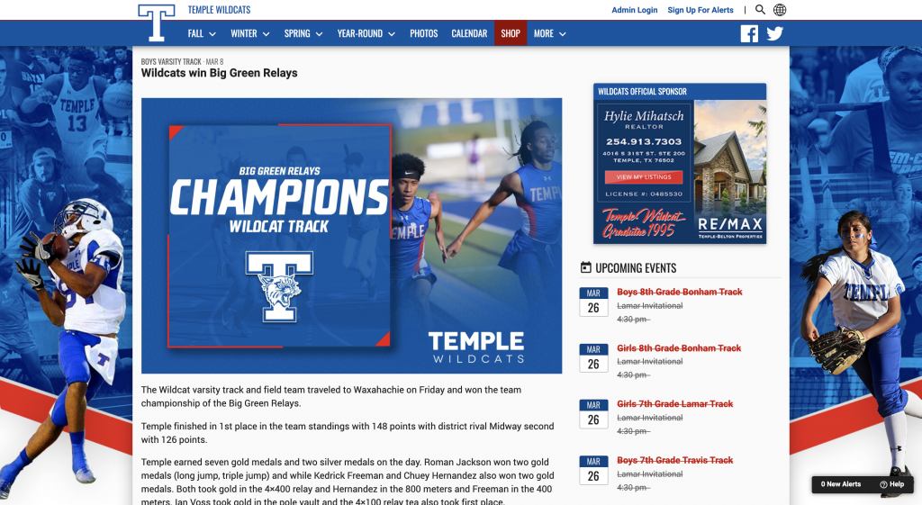 BoxOut Sports and VNN Integration - Post Game Article Graphic Features