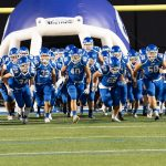 Miamisburg Football Team Runs Out onto the Field